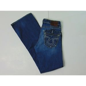 Big Star 27 Liv Boot Cut Blue Jeans Denim Pants